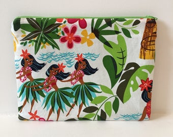 Zipper Pouch/ Hawaiian Pouch/ Makeup Bag