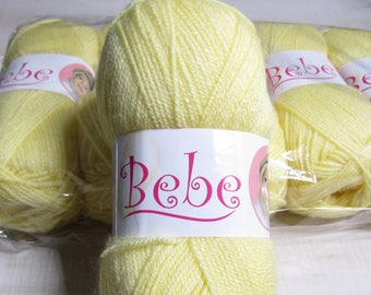 Oxford Bebe Baby Yarn in Baby Yellow