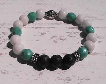 diffuser bracelet. diffuser lava rock beaded bracelet. handcrafted jewelry.
