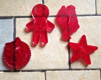 4 Christmas Cookie Cutters