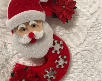 S is for Santa Ornament