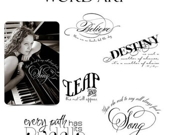 50% Off - Graduation Word Art Quotes Photo Overlays for Scrapbooking - DESTINY - (5) Custom Quotes for your Photographs and Quick Pages.