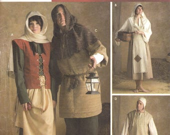 UNCUT Historical Renaissance costume Size XS to XL Simplicity sewing pattern 3806