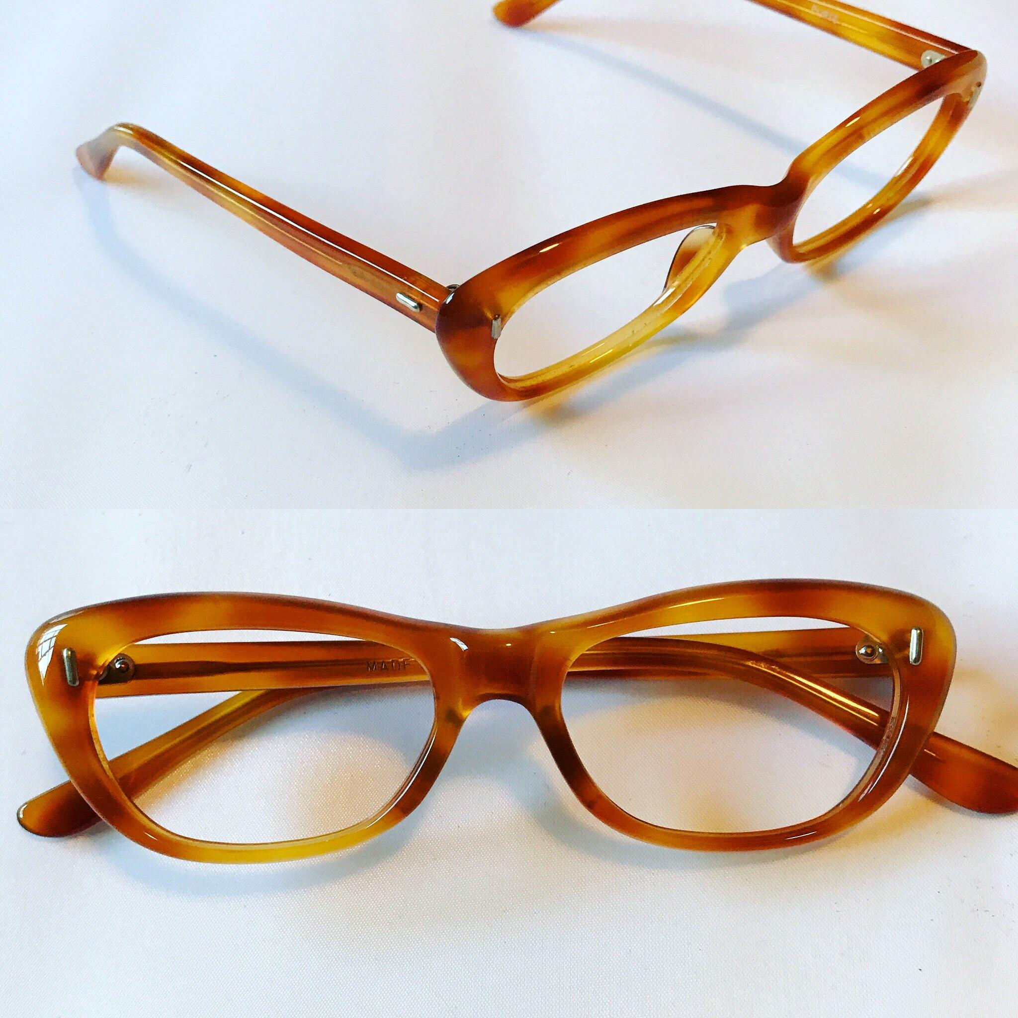 e4c647fb4dd Amber Colored Tortoise Cateye Glasses