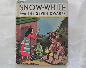 Snow White And The Seven Dwarfs 1937 Antique Book