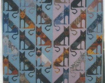 DIAGONAL CATS 1997 Quilt Pattern By Proudfoot