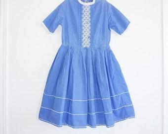 SALE // Vintage Royal Blue Girl's Dress