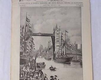 1894 Scientific American New London Bridge Inventions Technology Ads