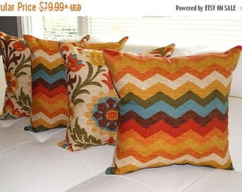 Waverly Panama Wave Adobe and Santa Maria Adobe Decorative Throw Pillows - 4 Pack Free Shipping