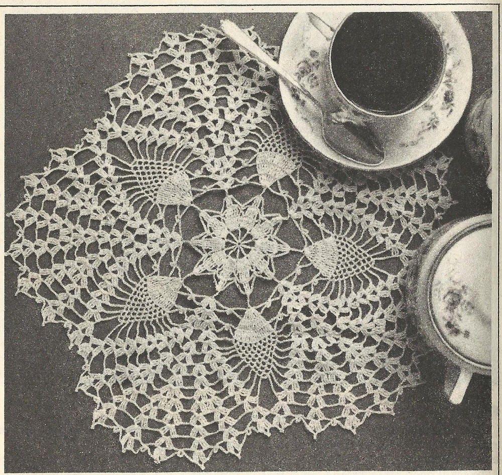 Pineapple star doily pattern 8805 vintage crochet pattern from zoom bankloansurffo Choice Image