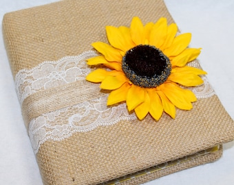Guest Book / BABY Shower Guest Book / Sunflower Theme Shower / Baby Girl  Shower /