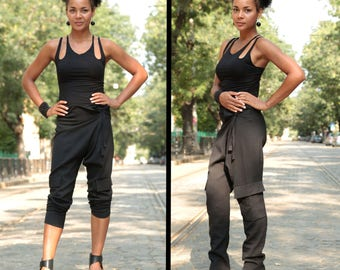 Womens Harem Pants, Womens Cargo Pants, Black Capri Pants, Summer Pants, Loose Harem Pants, Black Harem Pants, Aladdin Pants, Thai Pants