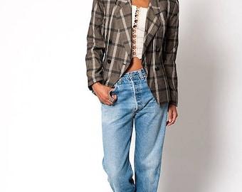 40% OFF CLEARANCE SALE The Vintage Preppy Plaid Suit Blazer