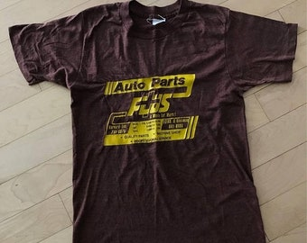 40% OFF The Vintage Auto Parts Body Shop Heather Brown 50/50 TShirt