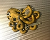 Custom ordered Crafty Steampunk Octopus Necklace