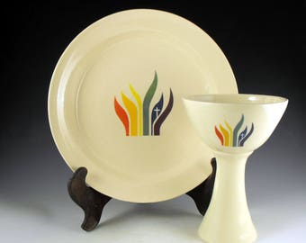 Made to Order UMCRM Chalice and Paten Ceramic Communion Set