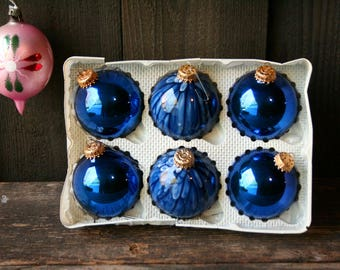 Vintage Hand Blown Glass Ornaments Christmas Tree Globe Vintage From Nowvintage on Etsy