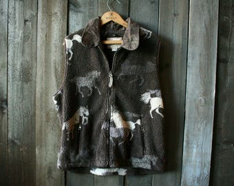 Woolrich Fleece Vest From The 90s Vintage From Nowvintage on Etsy