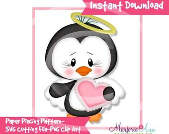 So In Love Penguin Paper Piecing File,SVG File,penguin svg, valentine svg, svg, penguin Clip Art, valentine Clip Art, svg file