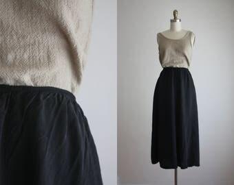 ash black midi skirt