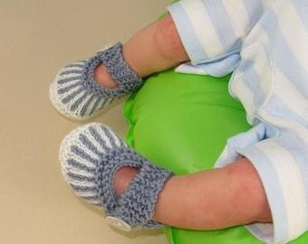 40% OFF SALE Knitting Pattern digital pdf download -Baby Vertical Stripe Sandals booties (Boots) knitting pattern- MADMONKEYKNITS