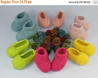 30% OFF SALE Digital pdf file knitting pattern -Really Easy Baby Booties and Slippers knitting pattern pdf download by madmonkeyknits
