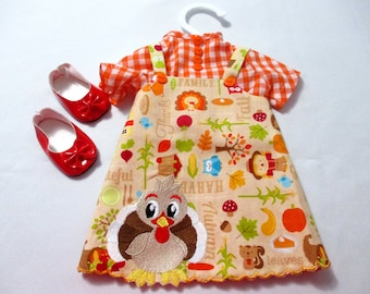 18 inch Thanksgiving jumper & blouse with shoes