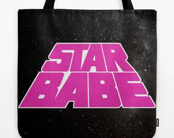 STAR BABE Star Wars t-shirt Princess Leia Padme Rey Jyn space tote bag (multiple sizes)