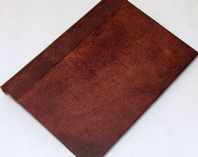 Handmade Refillable Journal Rusty Brown 7x5 Original travellers notebook hardcover fauxdori