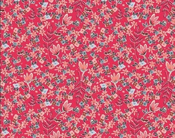 Charleston Collection, Garden of Dreams in Rouge, Art Gallery Fabric Choose your cut