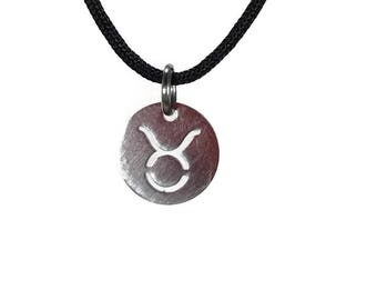 12 zodiac signs necklace - stainless steel - constellation necklace - disc charm - zodiac jewelry - Gift for her or for him
