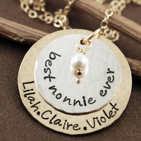 Grandma Necklace, Jewelry For Grandma, Necklace for Grandma, Grandma Necklace Personalized, Grandma Jewelry Gifts, Granddaughter Jewelry