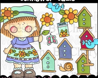Sunflower Sadie Clipart Collection- Immediate Download