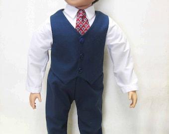 "Navy Dress Suit for 23"" MyTwinn Boy Doll"