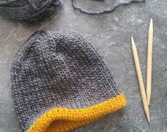 Knitting Pattern, Knit Hat Pattern, Chunky Knit Hat Pattern, Knit Mens Hat Pattern, Chunky Hat Pattern, Chunky Beanie, Mens Beanie Pattern