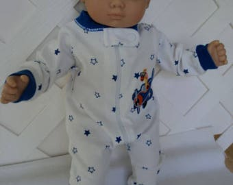 Bitty Baby Boy car footed  Pajama, Sleeper, Doll Clothes
