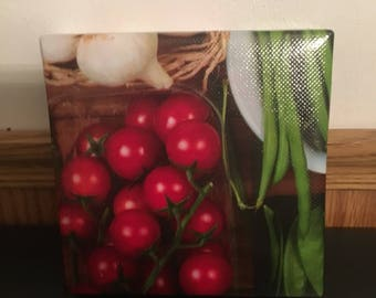 Glossy Tomato Vegetable Food Wall Art Canvas - 5x5x1