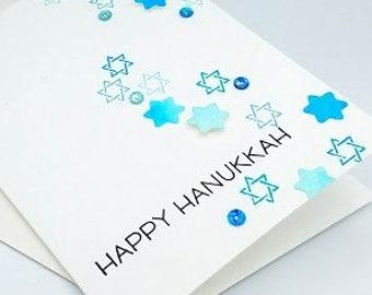 Hanukkah Greeting Card, Happy Hanukkah, Hanukkah, Holiday Card, Judaica, Star of David, Jewish Card, Happy Holidays, Hanukkah Card, Card