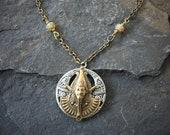 Pharaoh Necklace, Egyptian Necklace, Pharaoh Head Necklace, Tutenkhamun Necklace, Old World Necklace, Pharaoh Mask Necklace