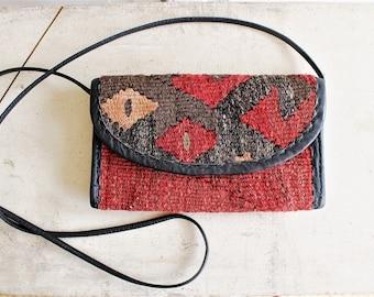 90s vintage woven kilim crossbody bag | joan & david