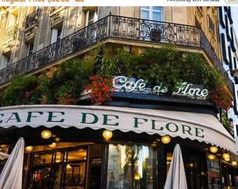 SUMMER SALE-Ends July 5- Cafe de Flore Photo - Paris Photography - France Decor - Bistro Print - Paris Restaurant - Fine Art Print par207