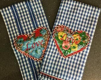 LOVE Vintage Kitchen / Hand Towel - Embroidered