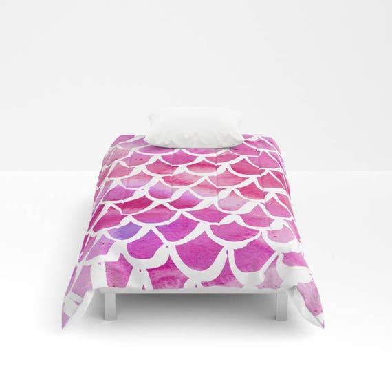 Pink Mermaid Comforter - Twin XL Comforter - Queen Comforter - King Comforter - Full Comforter - Twin Comforter Twin XL Bedding Bedspread