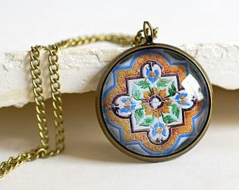 AZULEJOS Bronze Necklace