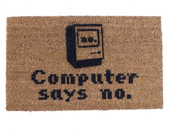 Computer says no doormat geek nerd outdoor eco friendly home