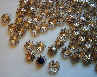 Gold Bead Caps, 70 plus, Adjustable for Larger Beads etc, Found Stash, Bead Cage