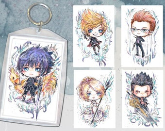 Final Fantasy XV Keychain Double-Sided