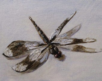 Dragonfly - original daily painting by Kellie Marian Hill