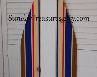 SUMMER SALE / Surfboard Hawaiian Surf wall art decor Sign, Kids, Beach Wedding Sign in Guest Book,  27 Inches 3 Foot or 4 Foot