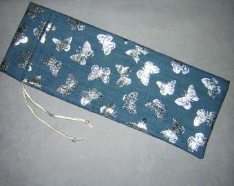 Personal Messager Vibrator Storage Dust Cover/Bag/Sak/Pouch/Case (Silver Butterflies)